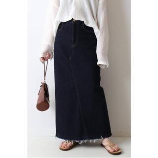 フレームワーク(FRAMeWORK)のFRAMeWORK ストレッチデニム切り替えタイトスカート(ロングスカート)