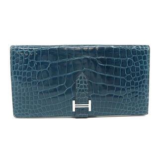 Hermes - エルメス  長財布  ベアン クラシック  □I刻印 ブルー