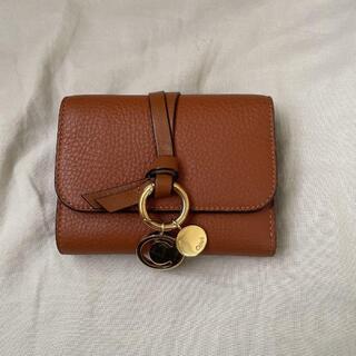 美品 クロエ 折り財布 tan(タン) Chloeミニ財布