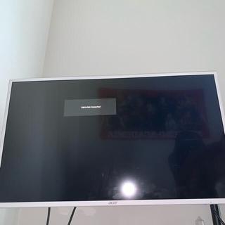 エイサー(Acer)のacer tvモニター 31.5インチ ホワイト(ディスプレイ)