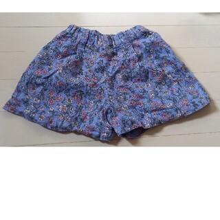 ブランシェス(Branshes)の花柄ショートパンツ 青色(パンツ/スパッツ)