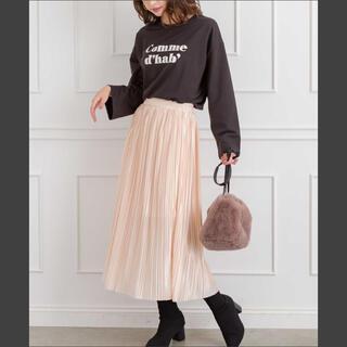 スプレイ(SpRay)のSpRay サテンプリーツスカート(ひざ丈スカート)