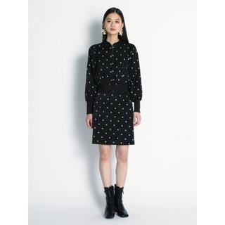 リリーブラウン(Lily Brown)のリリブラ 小紋刺繍スカート(ミニスカート)