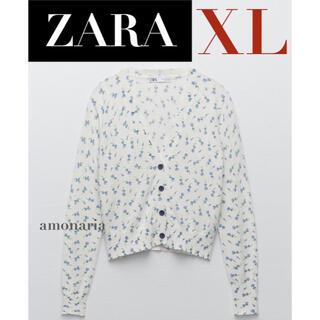 ZARA - 【新品/未着用】ZARA フラワージャガードカーディガン 花柄カーディガン