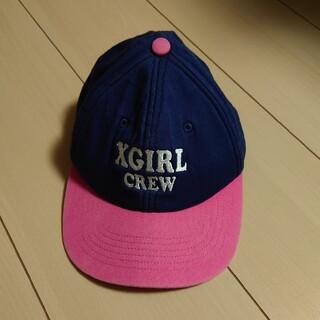 エックスガールステージス(X-girl Stages)のX-girl stages  ロゴ刺繍キャップ(帽子)