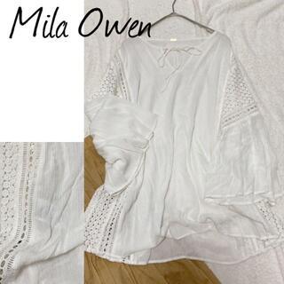 Mila Owen - Mila Owen ミラ オーウェン ブラウス レース ホワイト フリー