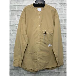 1LDK SELECT - 未使用 and wander CORDURA band collar shirt