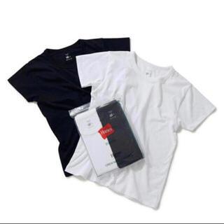 アダムエロぺ(Adam et Rope')のHanes for BIOTOP  半袖 Tシャツ ホワイト ブラック 2枚 (Tシャツ(半袖/袖なし))