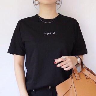 agnes b. - アニエスベー Agnes b Tシャツ Lサイズ  レディース ミニロゴ