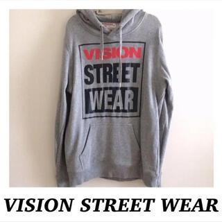 ヴィジョン ストリート ウェア(VISION STREET WEAR)の【美品】VISION♡ヴィジョン スウェットパーカー フロントポケット グレー(パーカー)