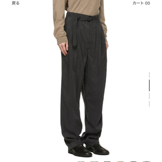 LEMAIRE - LEMAIRE BELTED PANTS DRY SILK