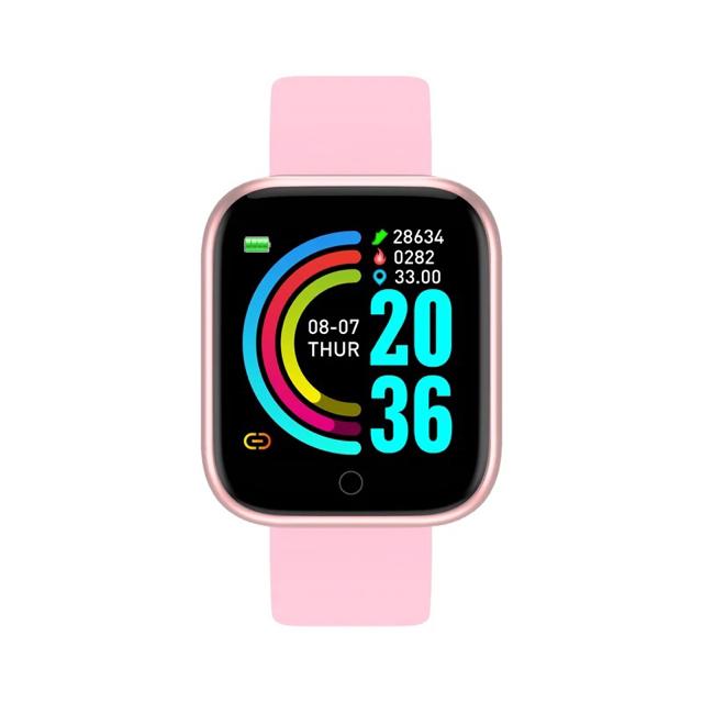 在庫処分品!Y68スマートウォッチ ピンク メンズの時計(腕時計(デジタル))の商品写真