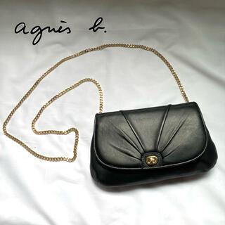 agnes b. - 【極美品】高級感 2way アニエスベー  ショルダーバッグ ブラックレザー