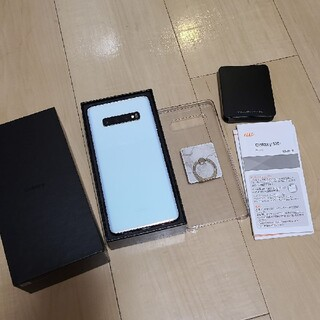 SAMSUNG - au Galaxy S10+ Prism White SIMフリー  サムスン