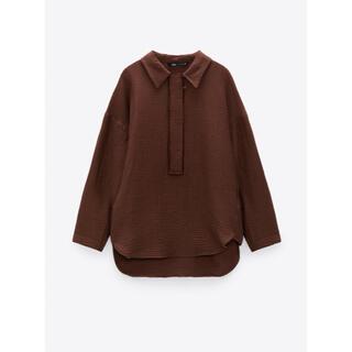 ZARA - zara ザラ ストラクチャ入り生地オーバーサイズシャツ H&M monki