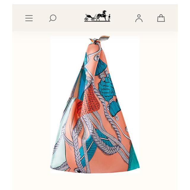 Hermes(エルメス)のHERMES♡国内未販売プティアッシュ♡シルクバッグ レディースのバッグ(ハンドバッグ)の商品写真