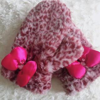 ミニーマウス - ディズニー ミニー 手袋 ピンクリボン