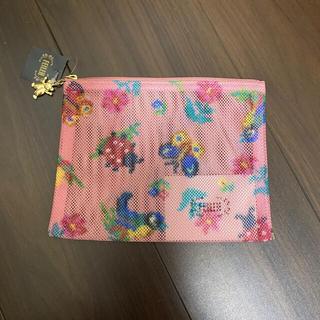 FEILER - フェイラー🌟ハイジ柄ピンクメッシュ転写プリントポーチ②