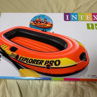 夏 ボート INTEX エクスプローラー プロ 200SET オール ポンプ付属