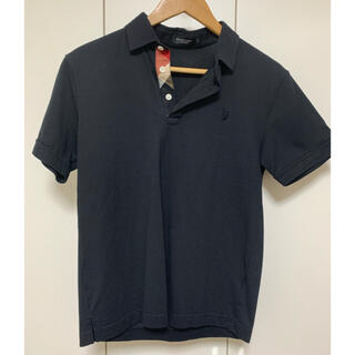 ブラックレーベルクレストブリッジ(BLACK LABEL CRESTBRIDGE)のBlack Label CRESTBRIDGE ポロシャツ 黒 サイズ2(ポロシャツ)