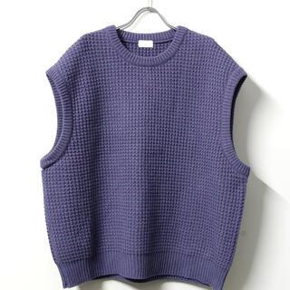 SUNSEA - 【URU ウル】ニットベスト 紫(パープル)