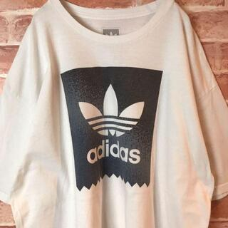 adidas - US古着adidas アディダス☆メキシコ製ビッグトレフォイルロゴビッグTシャツ