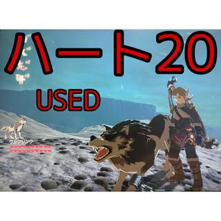 ニンテンドウ(任天堂)のハート20 ウルフリンク アミーボ amiibo ゼルダの伝説 USED(ゲームキャラクター)