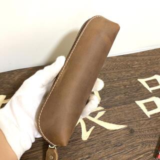 本革 ペンケース 牛革クレイジーホースレザー 復古 高級感 大容量 ペンケース(ペンケース/筆箱)