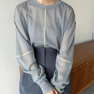 STUDIOUS - 新品 CLANE クラネ SOLID SLEEVE SHEER L/S TOPS