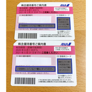 エーエヌエー(ゼンニッポンクウユ)(ANA(全日本空輸))のANA 株主優待券 2枚セット(その他)