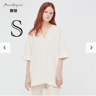 ユニクロ(UNIQLO)のUNIQLO × mame エアリズムコットンオーバーサイズT(Tシャツ/カットソー(半袖/袖なし))