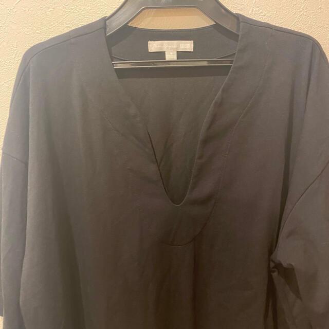 UNIQLO(ユニクロ)のUNIQLO × mame エアリズムコットンオーバーサイズT レディースのトップス(Tシャツ(半袖/袖なし))の商品写真