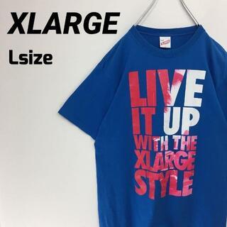 XLARGE - エクストララージ XLARGE Tシャツ 青 ブルー プリント L