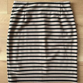 NATURAL BEAUTY BASIC - 【美品】NATURAL BEAUTY BASIC ボーダースカート【L】
