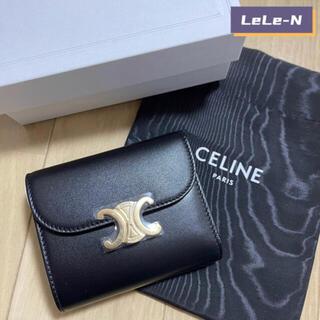 celine - 大人気♪CELINE<新品レシート付き> トリオンフ スモール財布 ブラック