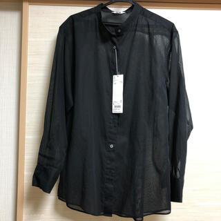 UNIQLO - ユニクロユー UNIQLO シアーバンドカラーシャツ