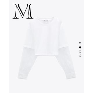 ZARA - ZARAコントラストストライプ柄シャツ M