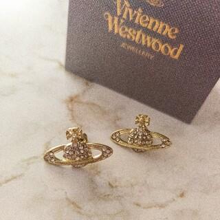 Vivienne Westwood - VivienneWestwoodミニバスレリーフオーブピアスゴールド