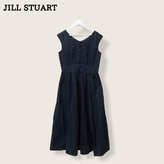 ジルスチュアート(JILLSTUART)の【JILL  STUART】ロングワンピース ブラック ジルスチュアート(ロングワンピース/マキシワンピース)
