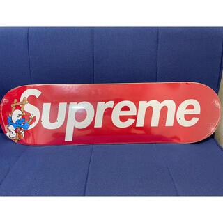 シュプリーム(Supreme)のSupreme smurfs スケートボード デッキ スケボー スマーフ 赤(スケートボード)