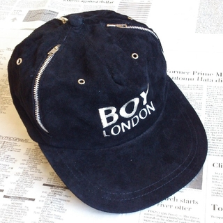 ▲B1 入手困難 当時物 BOY LONDON ボーイロンドン キャップ 黒