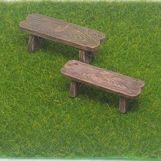 ミニチュア 木製 ベンチ  イス ジオラマ ガーデン  ドールハウス マイクロ(ミニチュア)