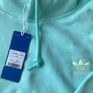 adidas - adidas 未使用 タグ付き アディダス パーカー Lミント グリーン送料無料