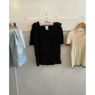 クロエ(Chloe)の最終お値下げ🖤🏳️Chloé black frill tops.(Tシャツ(半袖/袖なし))