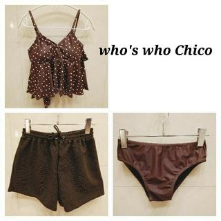 フーズフーチコ(who's who Chico)のチコ 水着 ヨガ セット ブラウン 3点(水着)