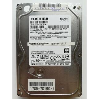 トウシバ(東芝)の東芝、3.5インチ 内臓ハードディスク 1TB(PCパーツ)