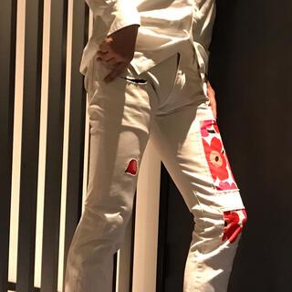 マリメッコ(marimekko)のKURO  デザインホワイトデニム(デニム/ジーンズ)