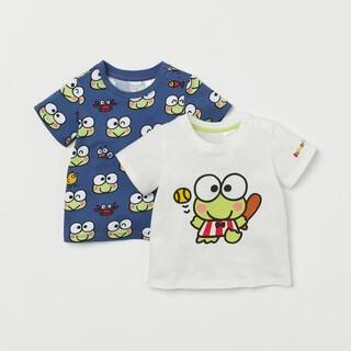 エイチアンドエム(H&M)のH&M80㎝ けろけろけろっぴ  プリントTシャツ 2枚セット(Tシャツ)