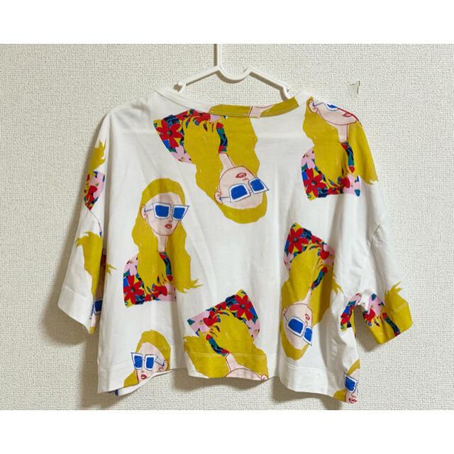 ZARA(ザラ)のZARA tシャツ ショート丈 ガール イラスト クロップド丈 レディースのトップス(Tシャツ(半袖/袖なし))の商品写真