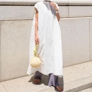 DEUXIEME CLASSE - MACHATT マチャット スタンドカラーシャツドレス F ホワイト
